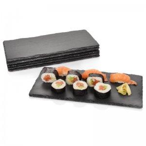 6-teiliges Schieferplatten-Set von Sänger 'Sushi XL', 34x17 cm