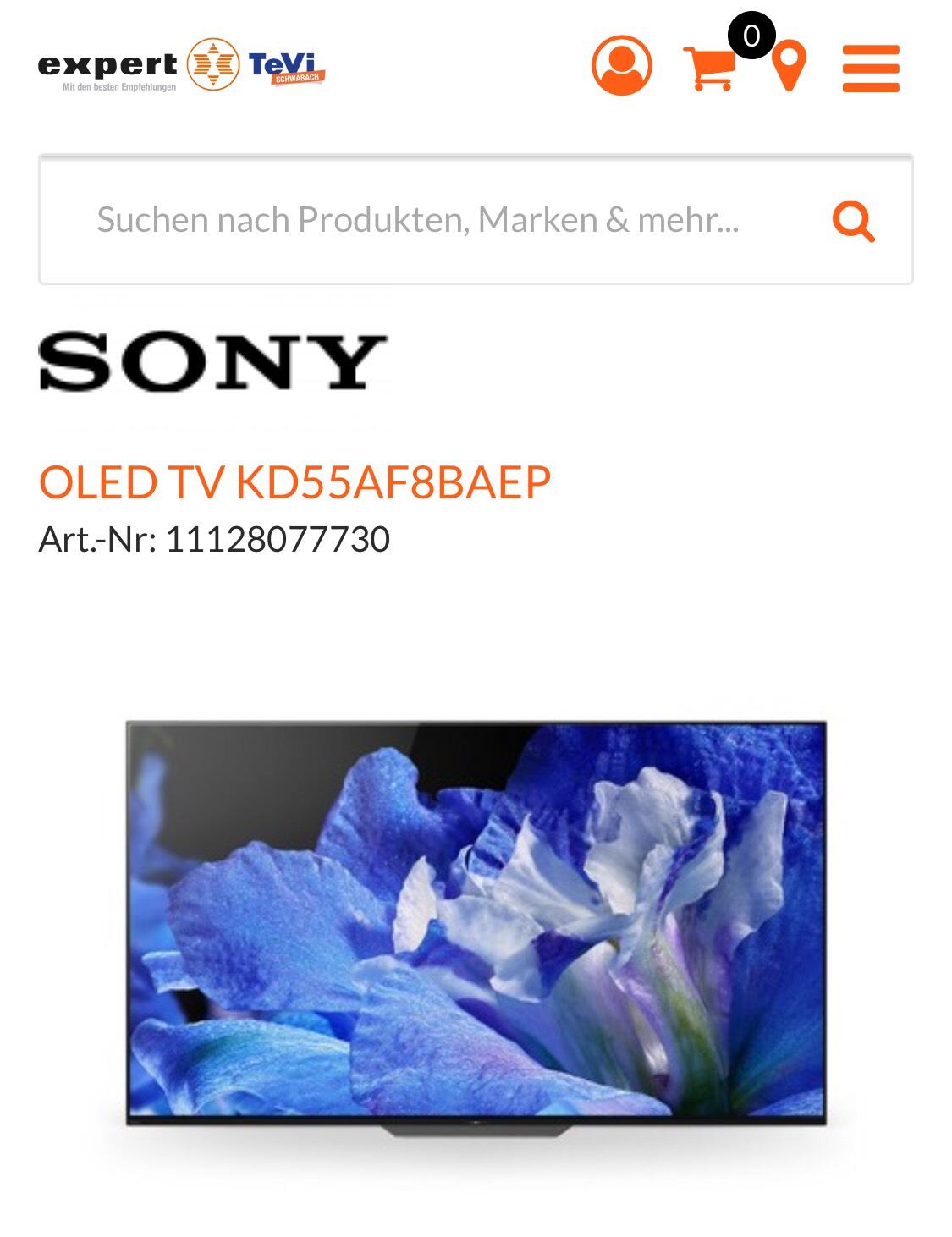 Sony KD55AF8 OLED PVG. 2299€
