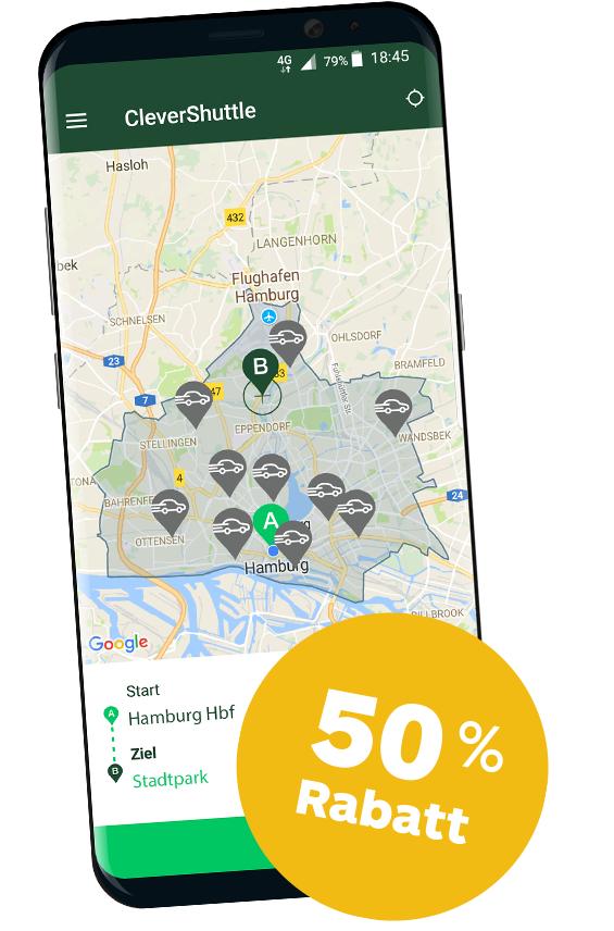 50% EXTRA CLEVERSHUTTLE SOMMERRABATT IN MÜNCHEN & HAMBURG (10-18Uhr)