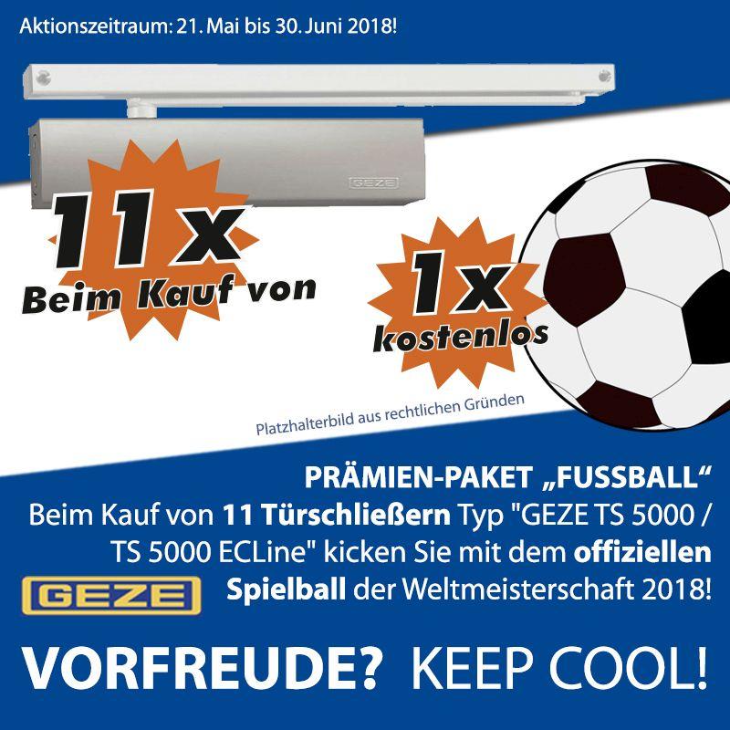 GEZE WM Aktion auf Türschließer: Original FIFA Ball oder Mini Kühlschrank erhalten