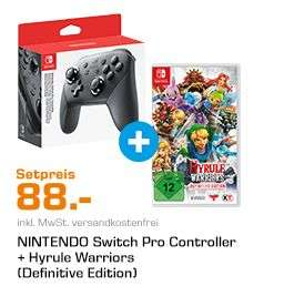 NINTENDO Switch Pro, Controller, Grau + Hyrule Warriors Definitive Edition (Switch) für 88,-€ [Saturn]
