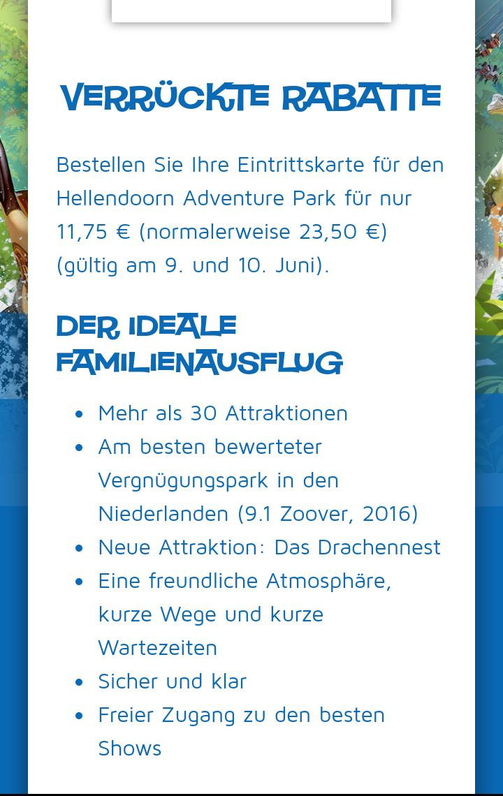 Freizeitpark Hellendoorn (NL) 50% am 09. und 10.06