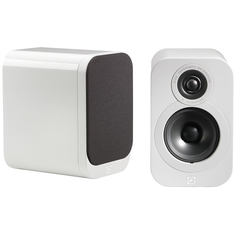 Q Acoustics 3010 Regal-/Kompaktlautsprecher in hochglanz weiß oder schwarz