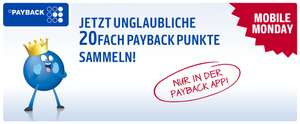 [Payback] 20-fach Punkte bei Burger King (Mobile Monday)