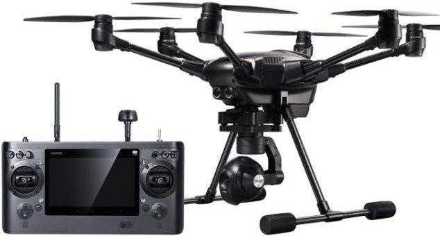Yuneec Typhoon H Hexacopter Drohne (4K@30, 1080p@120, 3D-Gimbal, 25 Minuten Flugzeit, 70km/h)