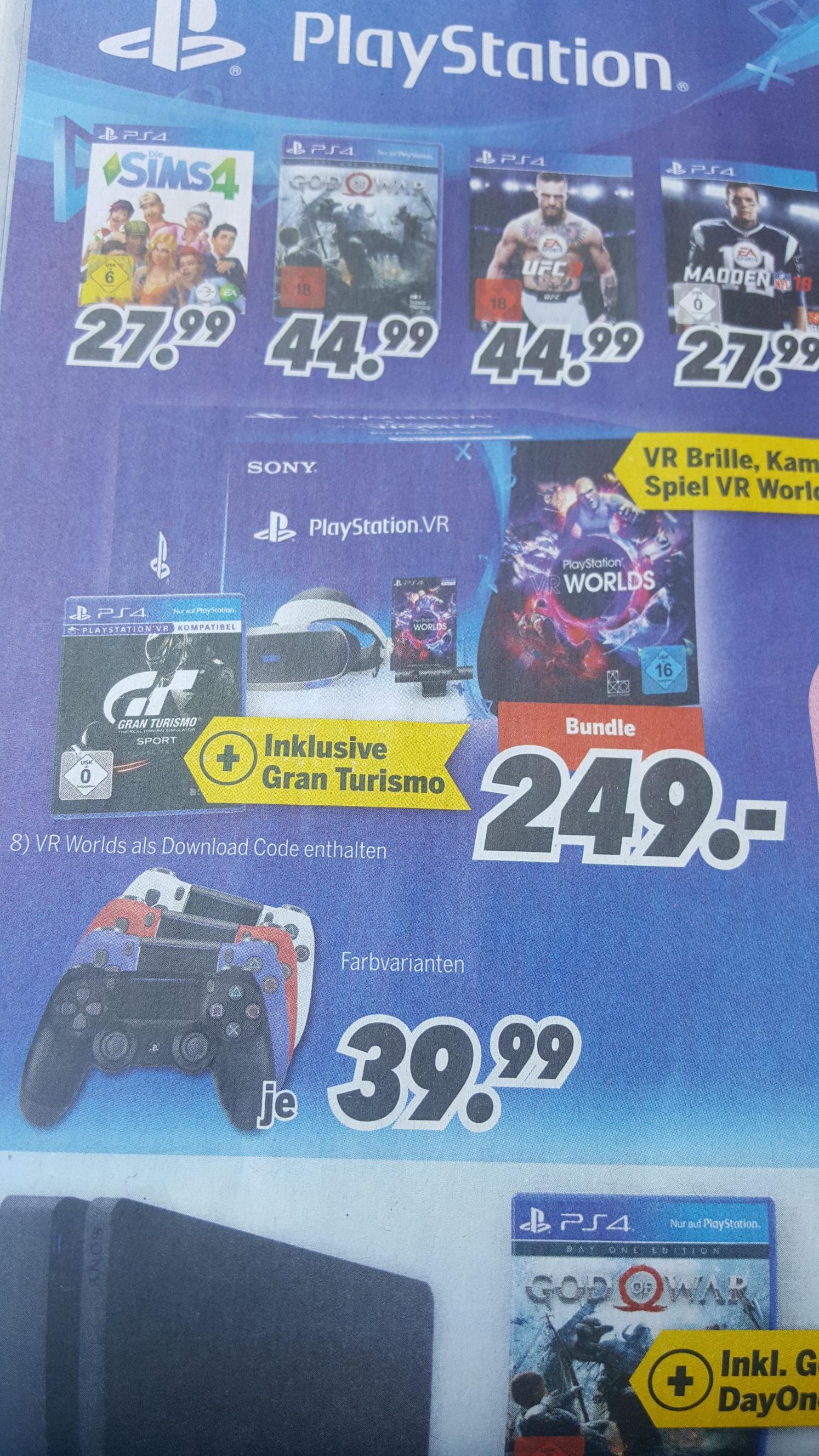 [MediMax] Playstation VR + GT für 249 € / Controller 39,99