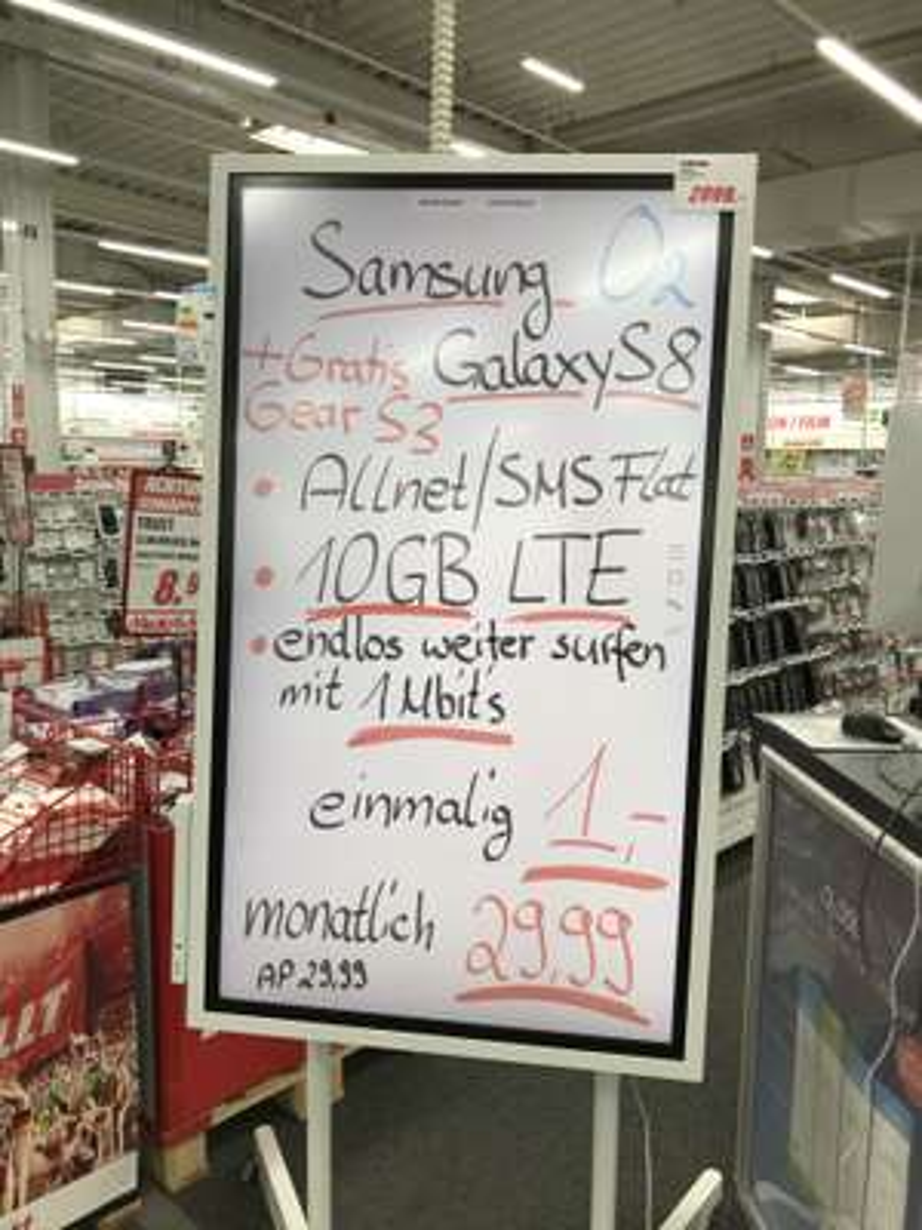 Galaxy S8 + Gear S3 Frontier/Classic im o2 Free M LOKAL Hamburg Poppenbüttel/Hummelsbüttel