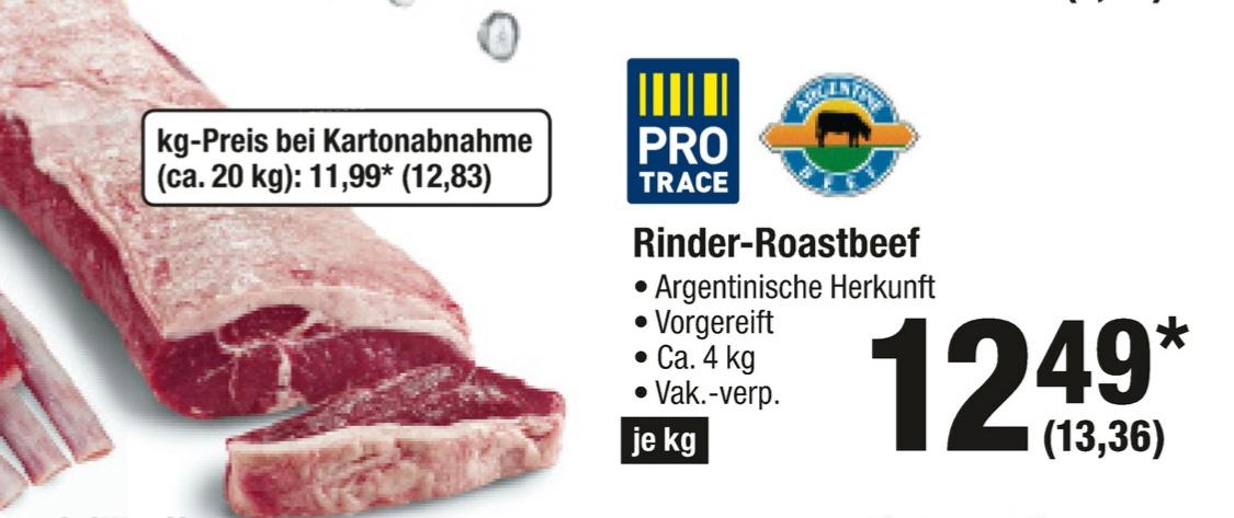 [Metro] Argentinisches Roastbeef für 13,36€/kg vom 07.06-13.06