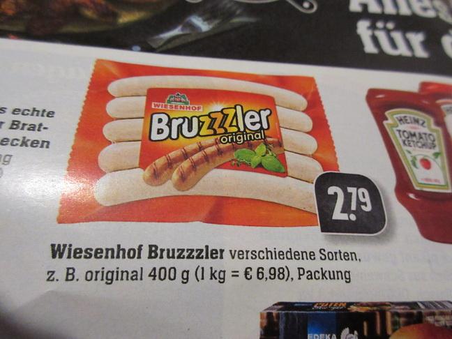 EDEKA - WIESENHOF Bruzzzler original + Coupon - 0,50 Euro