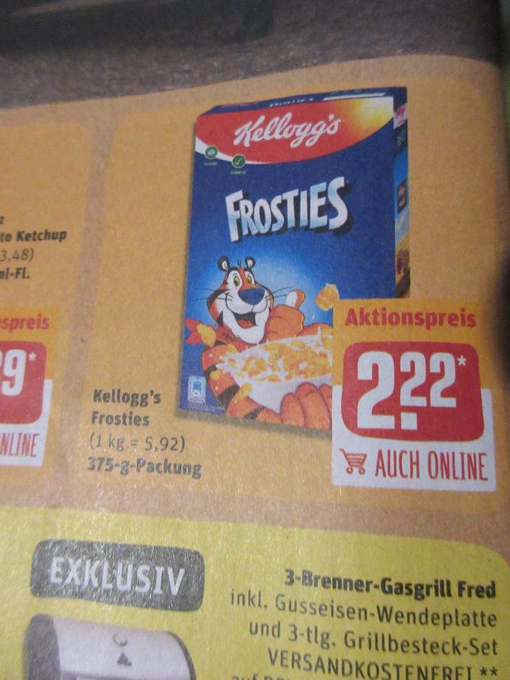 Rewe - Kellogg`s Frosties mit Coupon -0,50 Euro für 1,72 Euro