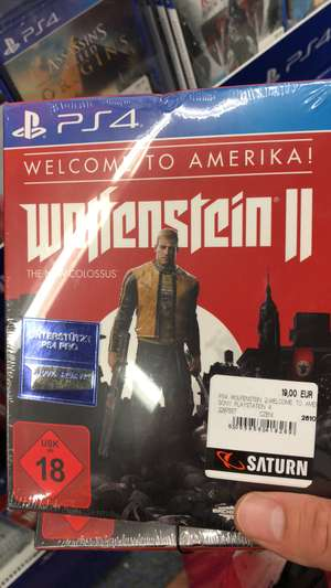 [Saturn Neu-Isenburg] Wolfenstein 2 - Welcome to Amerika Edition