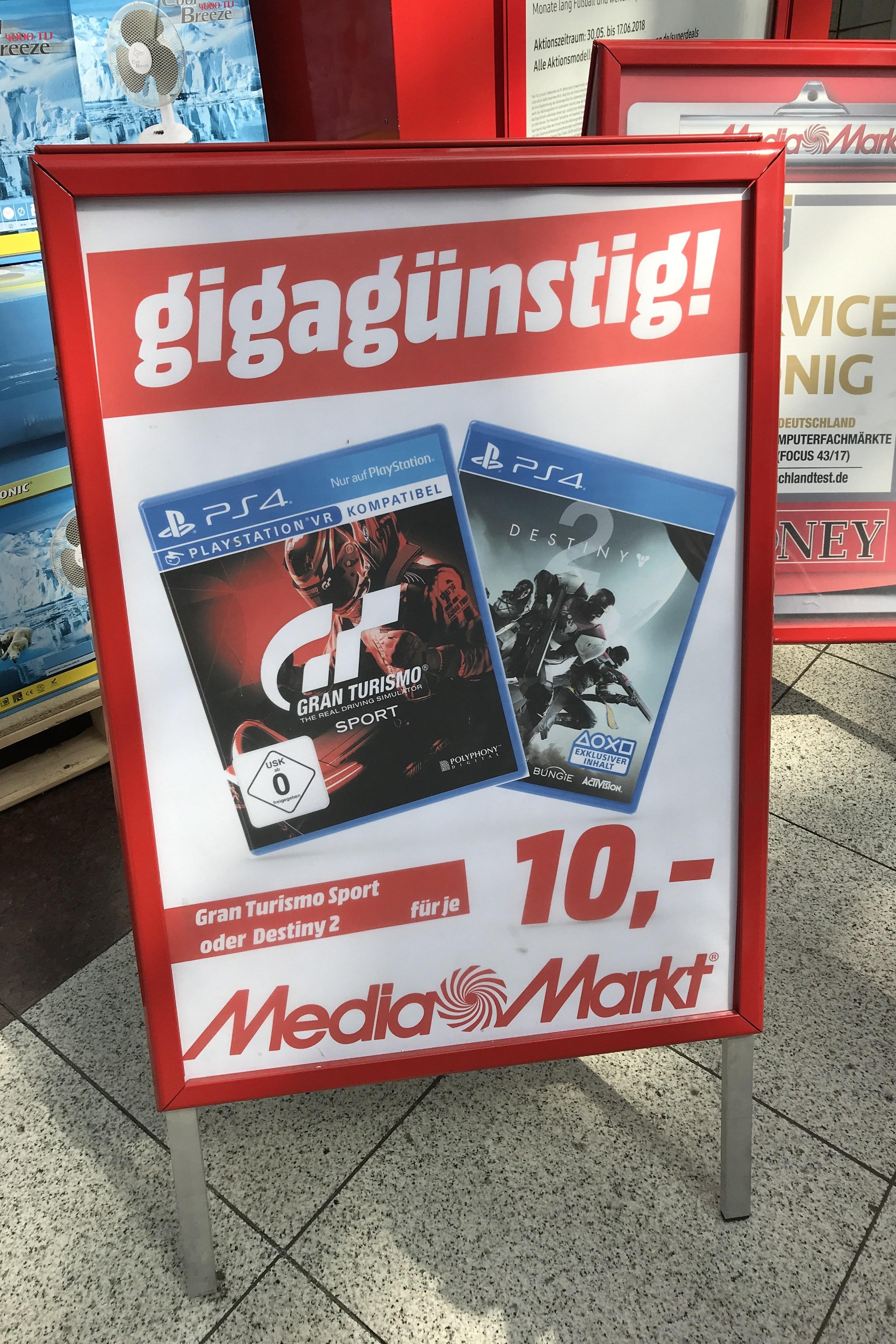 Destiny 2 oder Gran Turismo Sport für PlayStation 4