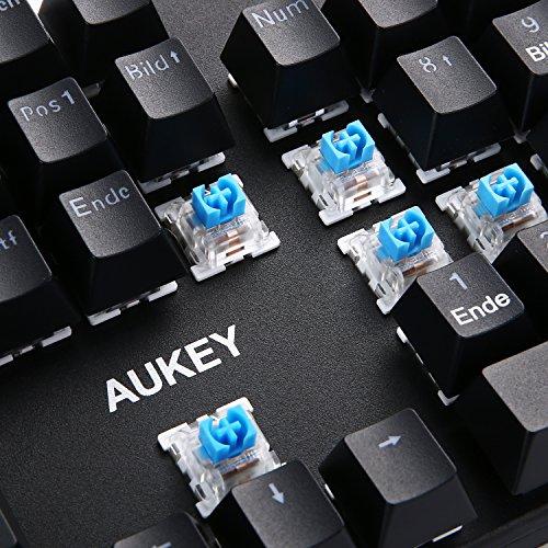 Aukey - KM-G8 - Mechanische Tastatur - unbeleuchtet, 105 Tasten