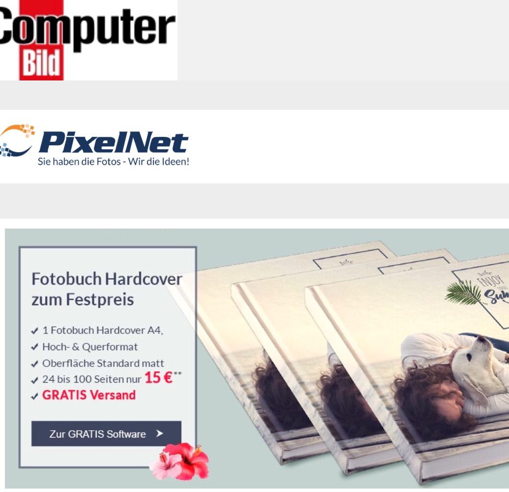 A4 Hardcover Fotobuch 100 Seiten für 15€ statt 57,15 Euro inkl. Versand
