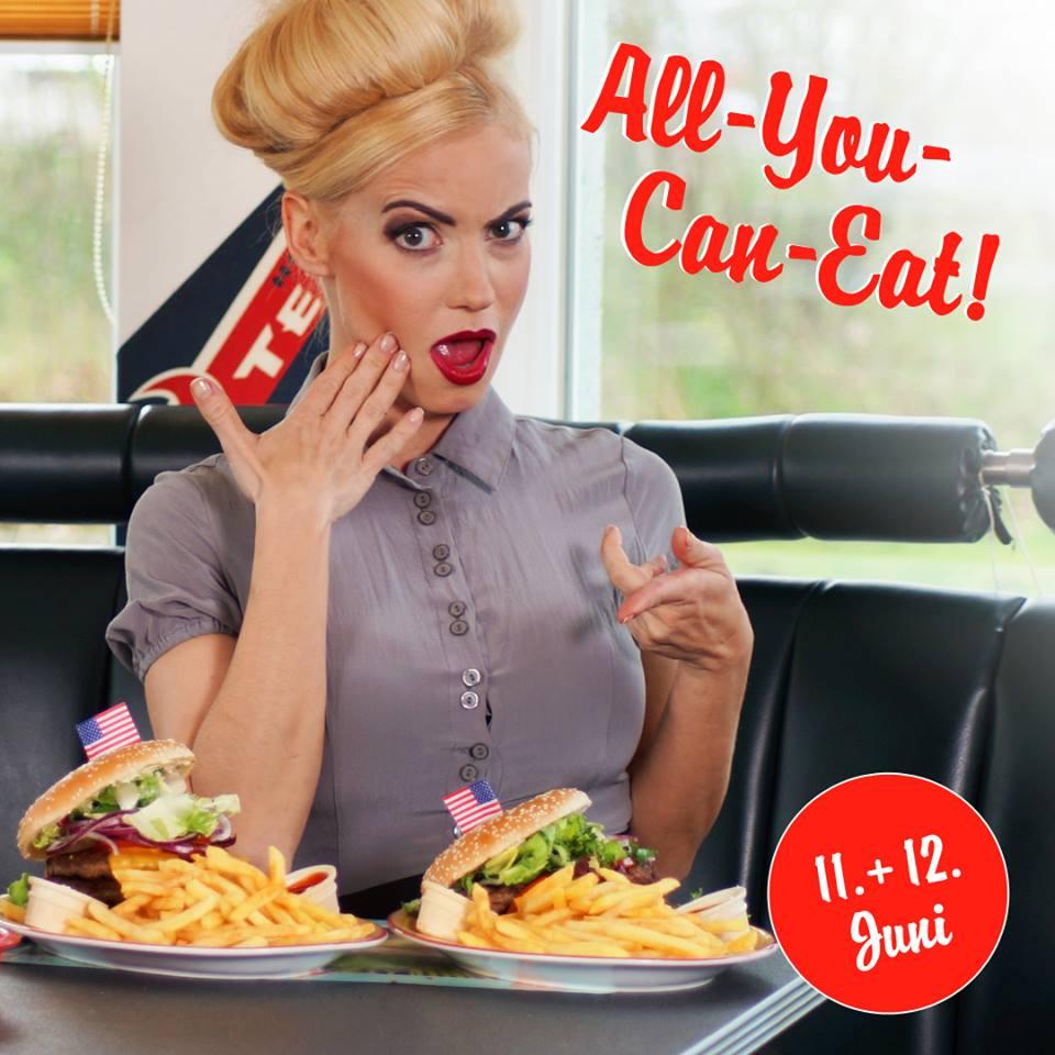 Burger All You Can Eat für nur 11,90€ bei Miss Pepper American Restaurants am 11. & 12.06.2018