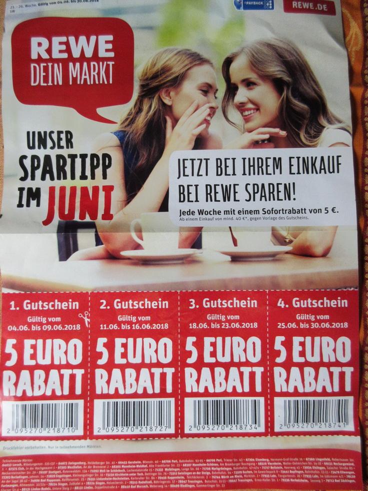 REWE - Mannheim Gutscheine 4 x 5 Euro