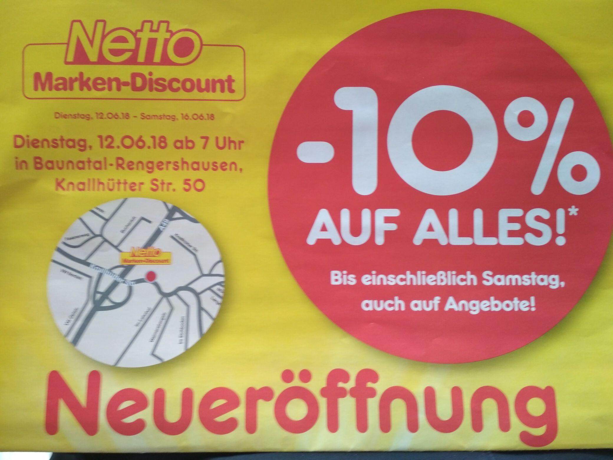 [Lokal] Netto Neueröffnung Baunatal (Rengershausen) Kassel