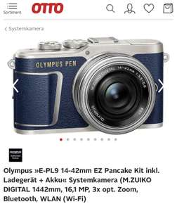 Olympus mFT PEN E-PL9 14-42mm Kit in blau
