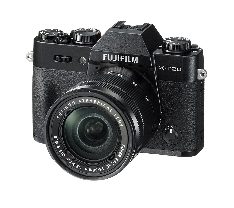 Fujifilm X-T20 Systemkamera mit XC16-50mm II Objektiv Kit 24,3 Megapixel APS-C X-Trans CMOS III Sensor) schwarz - Amazon.es