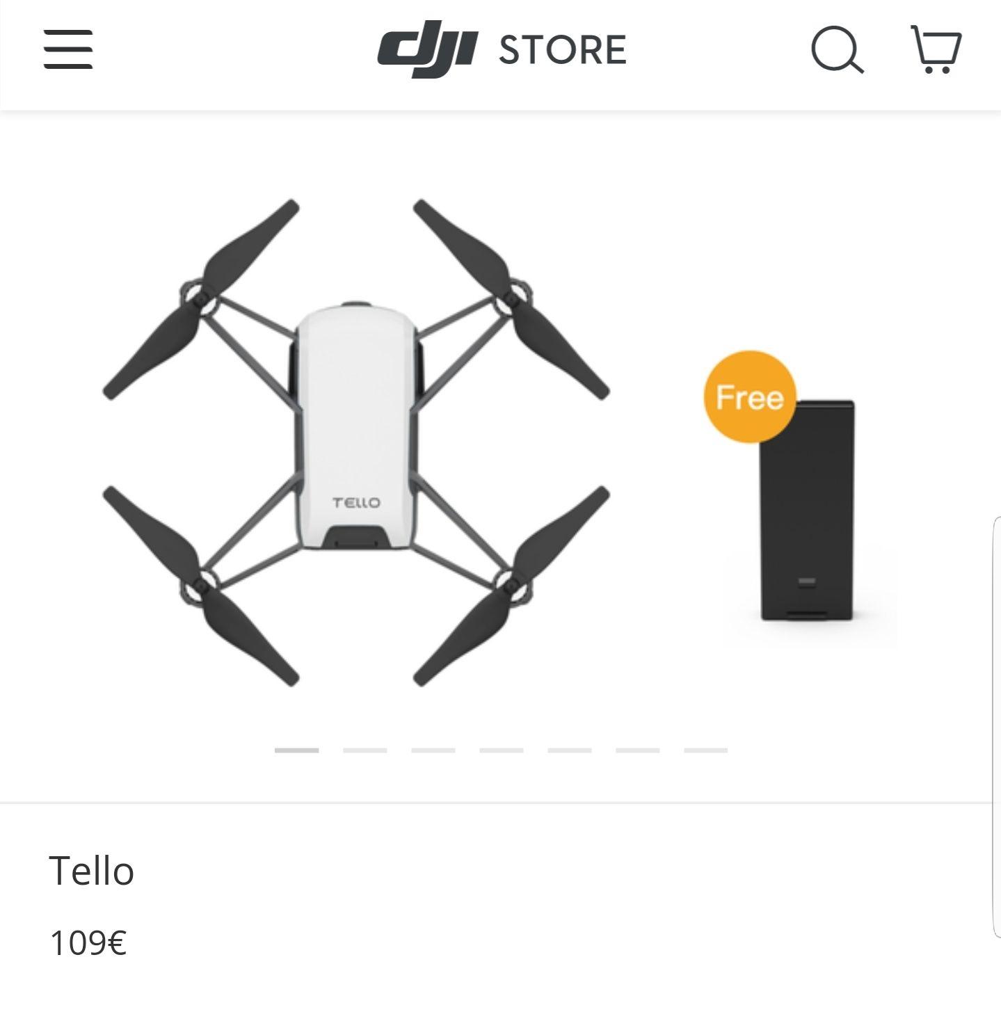 Ryze Tello Dji Drohne + Akku geschenkt
