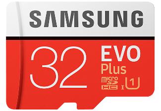 [Saturn] Samsung EVO Plus Micro SDHC 32GB bis zu 95MB/s, Class 10 U1 Speicherkarte (inkl. SD Adapter) rot/weiß für 10,-€