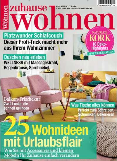 """6 Monate Zeitschrift """"zuhause wohnen"""" + 20€ Otto-Gutschein für 15,80€"""
