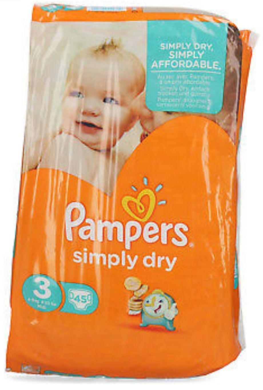 Pampers Windeln Simply Dry Gr. 3 90 Stk. [0,11€*/Stück]