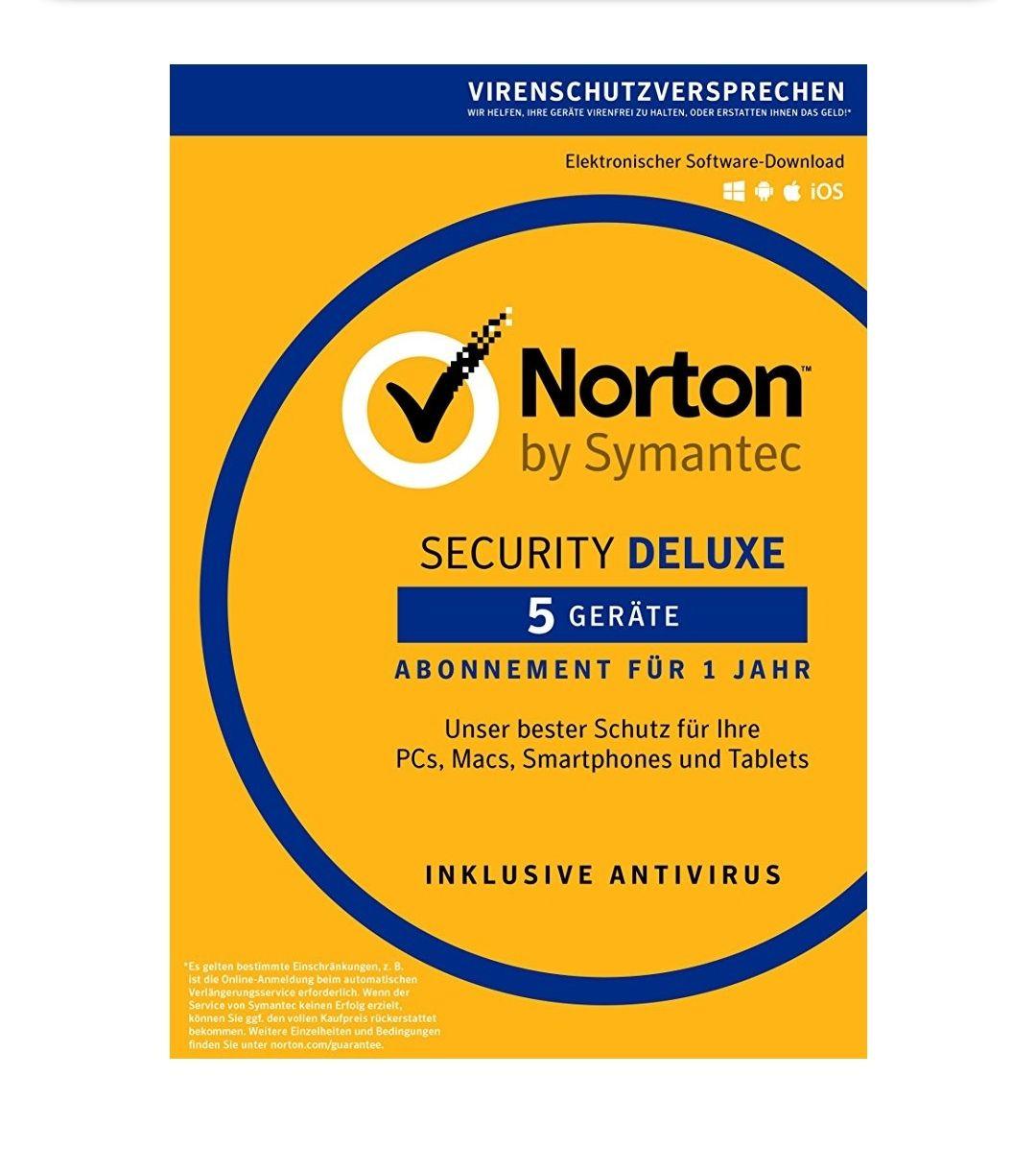(Amazon Prime Day) Norton Security Deluxe 2018 1 Jahr für 5 Geräte  PC/Mac/iOS/Android