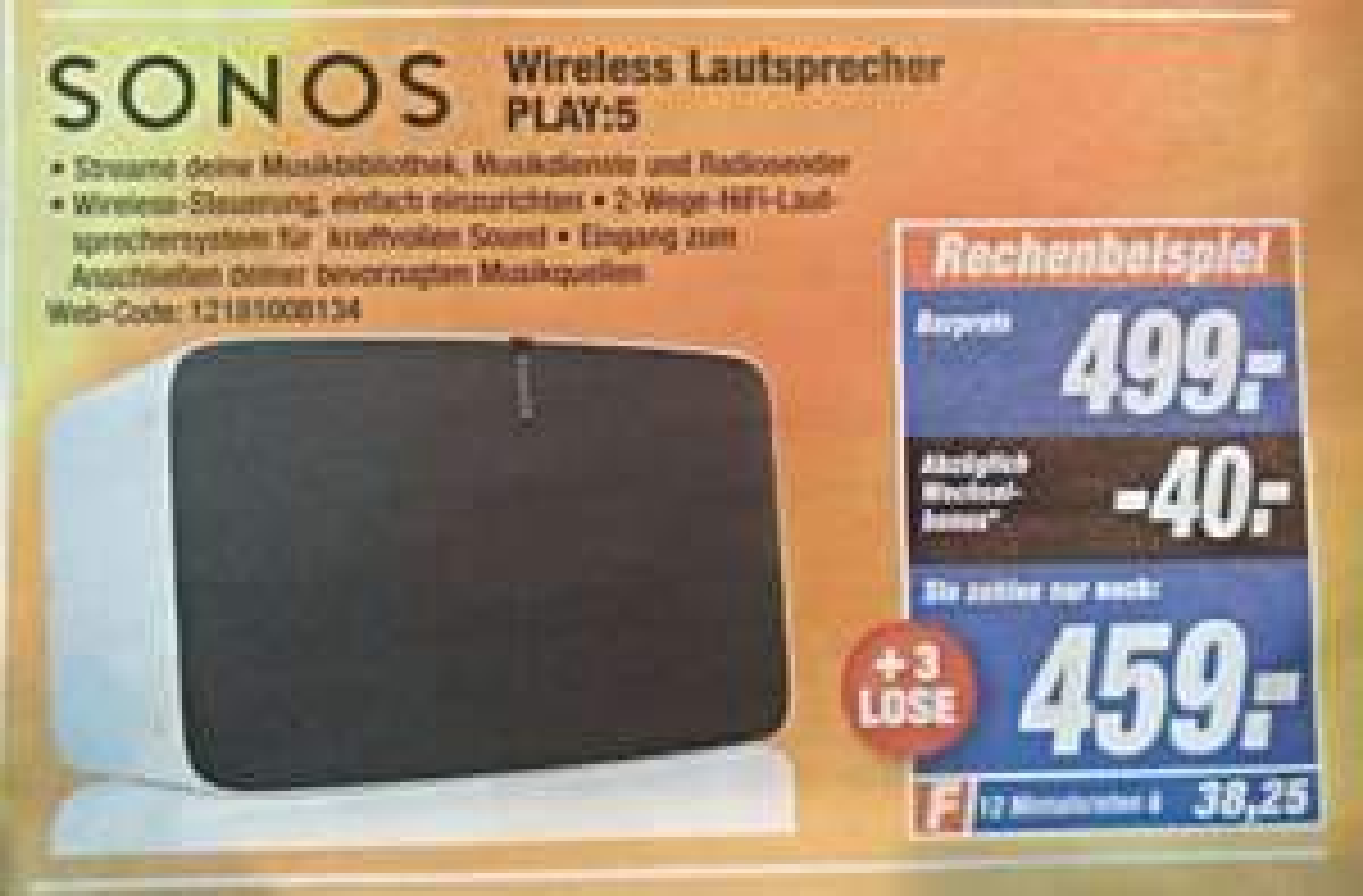 [Lokal Expert Wolfenbüttel] Sonos Play 5 Gen. 2