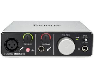 Focusrite iTrack Solo USB-Audio-Interface für PC, Mac & iPad