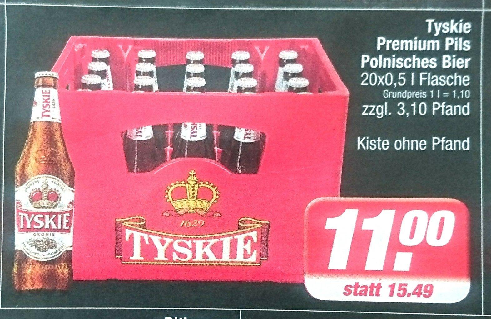 Tyskie Premium Pils bei Edeka 20 x 0,5l +  Pfand, Trikot noch erhältlich