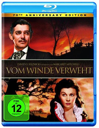Vom Winde verweht - 70th Anniversary Edition (Blu-ray) für 5,94€ (Amazon Prime & Dodax)