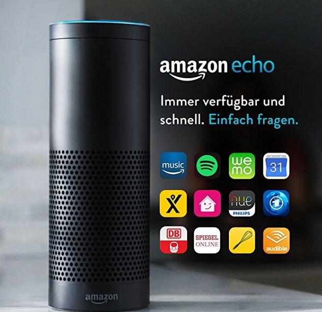 [AMAZON] Amazon Echo, Schwarz und Weiß (Vorherige Generation)