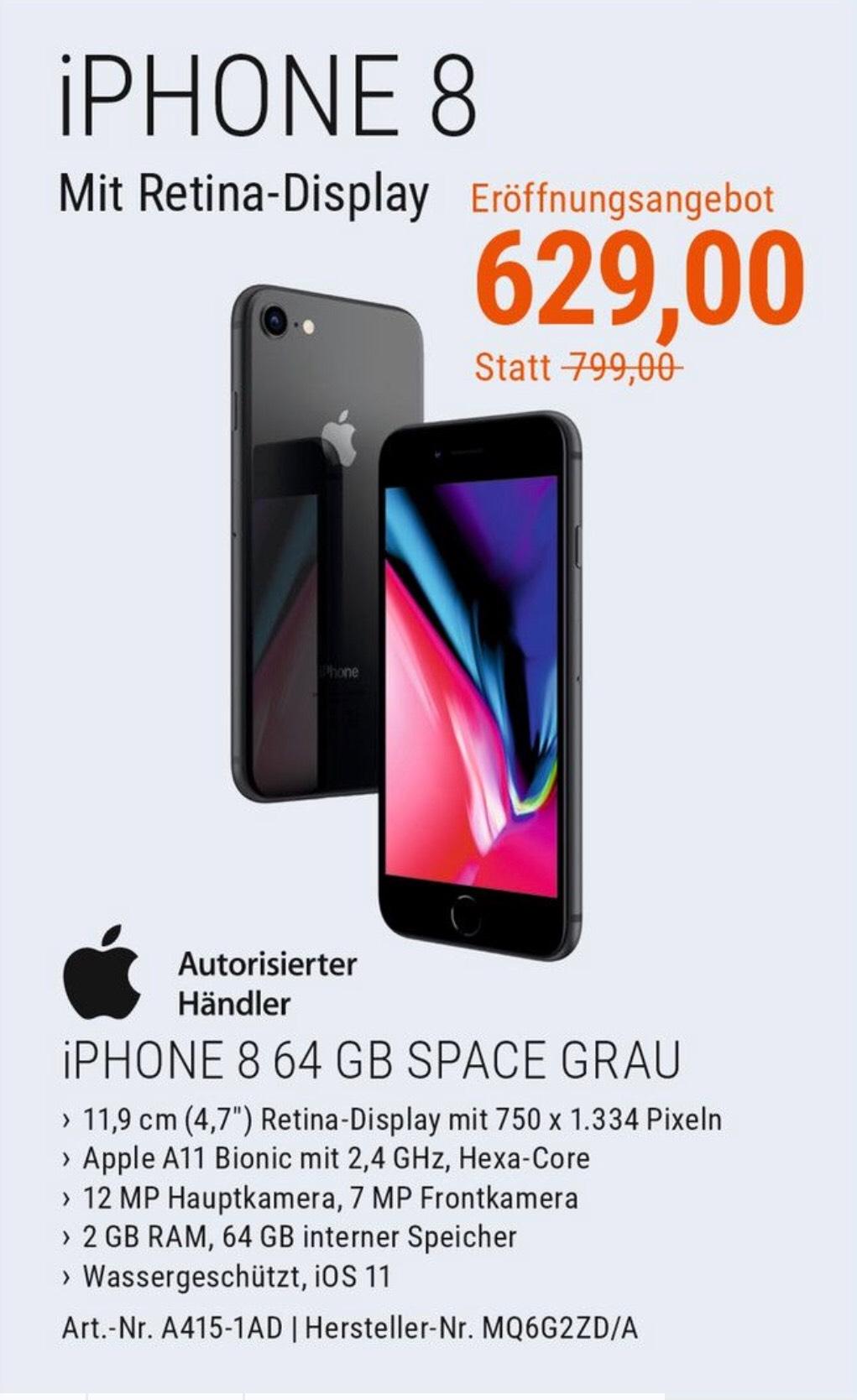 [cyberport][lokal München] iPhone 8 64 GB space grey (Eröffnungsangebot)