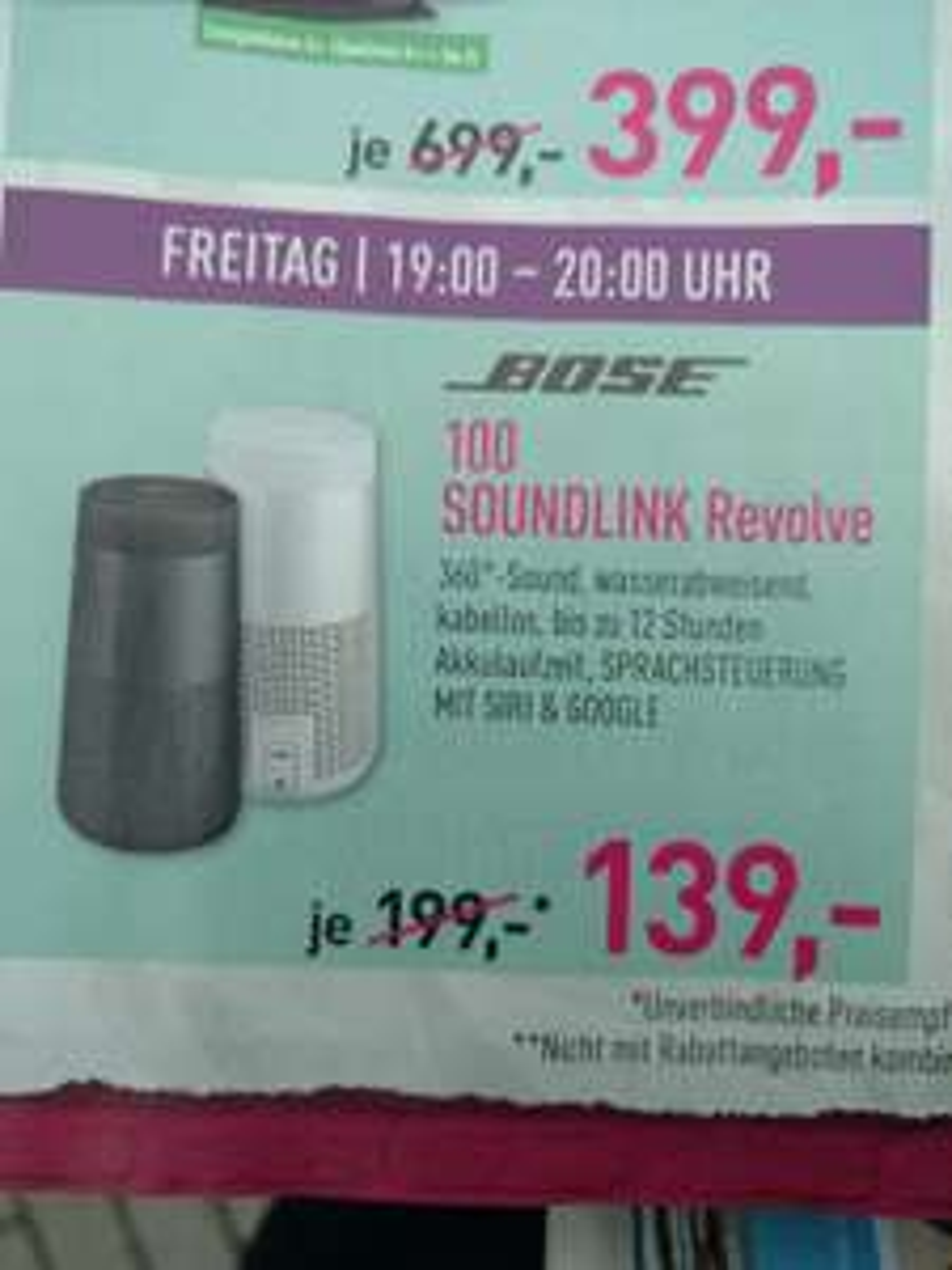 [Lokal Posthausen Bremen] (Dodenhof) Bose Soundlink Revolve {Nur 19-20 Uhr}