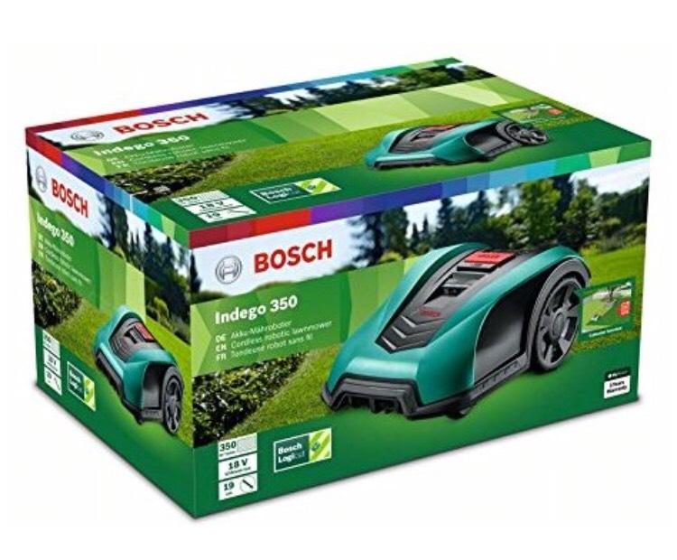 [Amazon] Bosch Mähroboter Indego 350 (19 cm Schnittbreite, Rasenfläche bis zu 350 m²)