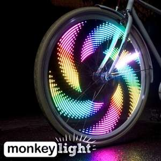 monkeylectric MONKEY LIGHT Fahrrad-Speichenlicht mit 32 Vollfarb-LEDs und 48 Themen