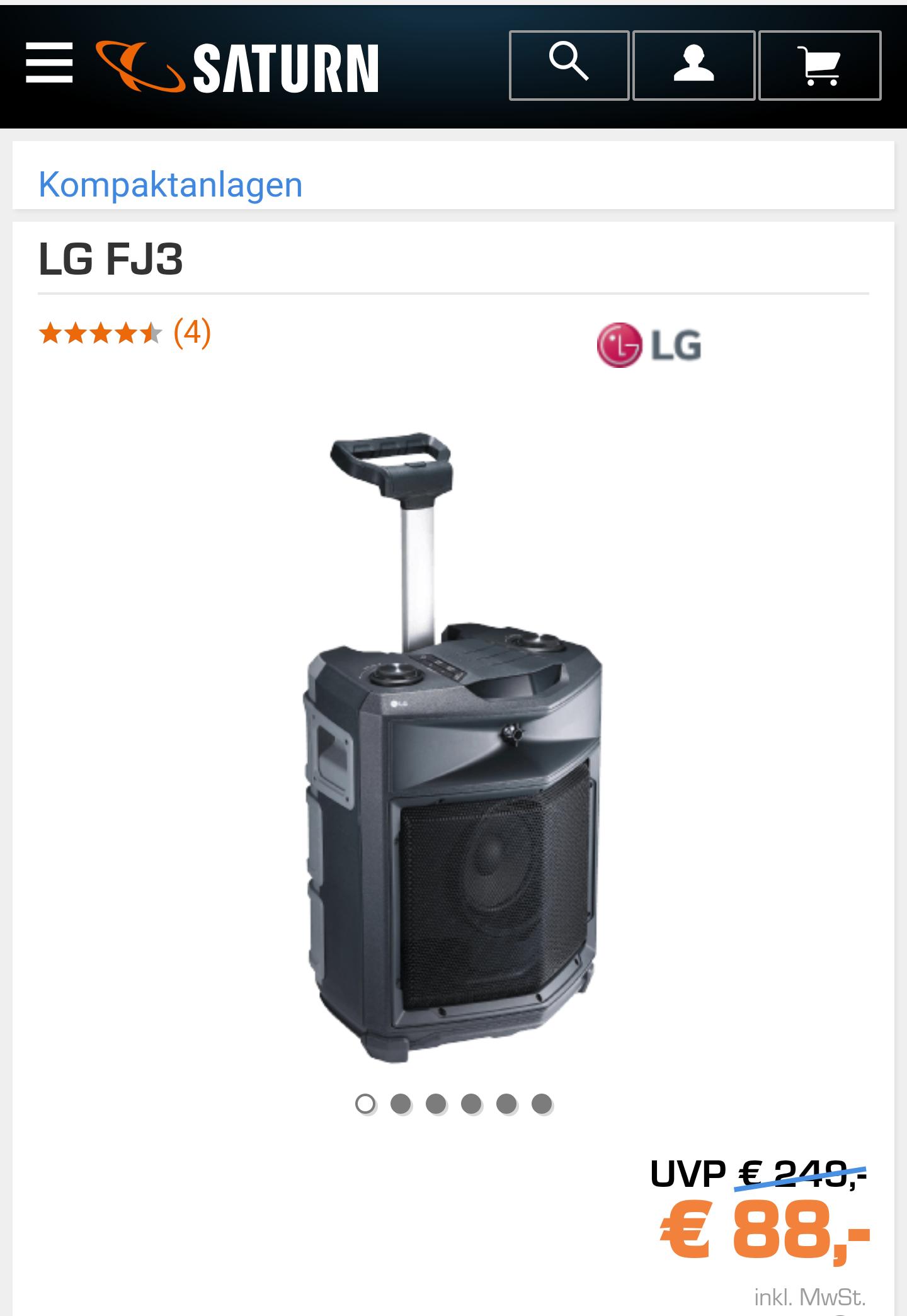 LG FJ3Bluetooth Lautsprecher