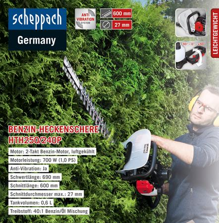 Scheppach Benzin-Heckenschere HTH250