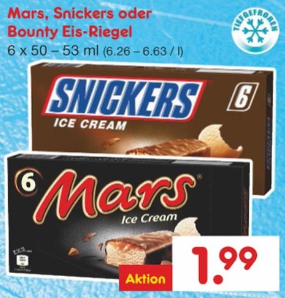 [ Netto ohne Hund bundesweit ab 11.06. ] 3 Packungen Snickers Ice Cream + 5 Print Ausgaben Sport Bild (selbstkündigend) für 5,97€