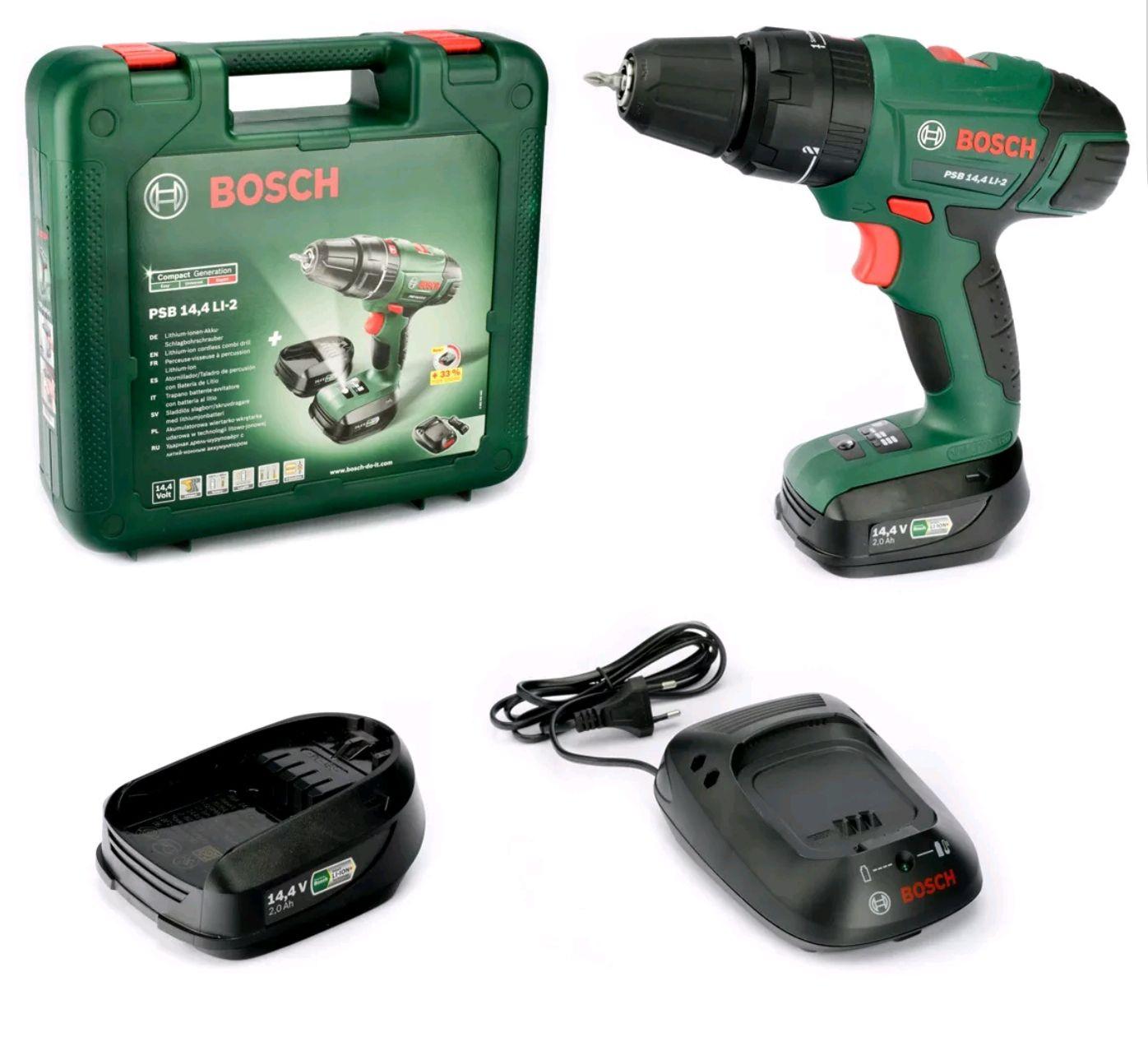 eBay: Bosch PSB 14,4 LI-2 Akku-Schlagbohrschrauber 14.4V inkl. 2. Akku & Koffer (Bestpreis)
