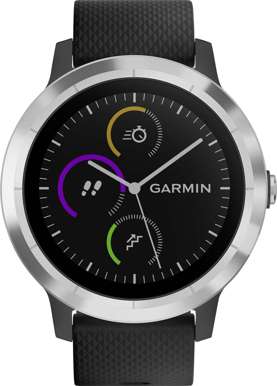 Garmin vívoactive 3 GPS-Fitness-Smartwatch, 24/7 Herzfrequenzmessung am Handgelenk, vorinstallierte Sport-Apps, integriertes GPS in Schwarz/Silber oder Weiß/Silber