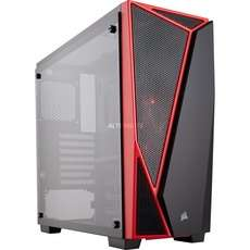 Corsair Carbide Series SPEC-04 TG Gehäuse schwarz/rot, Glasfenster (CC-9011117-WW)