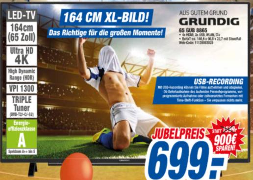 HEM expert SHA, Grundig 4K Ultra HD TV 65 GUB 8865
