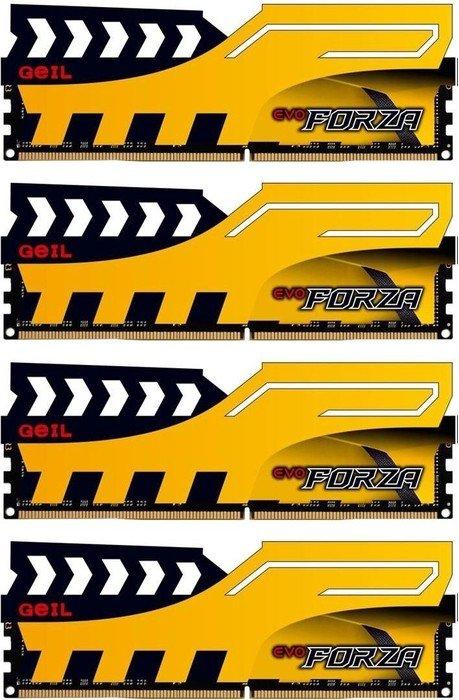 GeIL EVO Forza DIMM Kit gelb 32GB, DDR4-2400, CL16 [Amazon.de Vorbestellung]