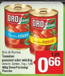 [Marktkauf Herford, Bünde, Löhne] Oro Di Parma Tomaten passiert oder stückig