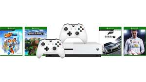 Xbox One S (1TB) Assassin's Creed Origins & Sea of Thieves Bundle + Xbox One S Controller (Weiß/Schwarz) + Forza Motorsport 7 + FIFA 18 + Super Lucky's Tale + Minecraft Explorers Pack für je 233,22€ (MS Store CZ)