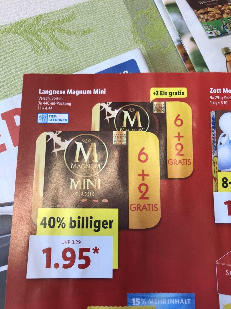 Magnum Mini 6+2 ab 18.06. bei Lidl