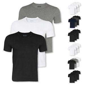 Wieder da! 3er Pack HUGO BOSS T-Shirts Business Shirts kurzarm Crew-Neck V-Neck Farbwahl