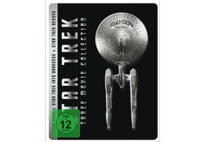 Star Trek: 3-Movie-Collection als Steelbook (Blu-ray) für 15€ [Mediamarkt]